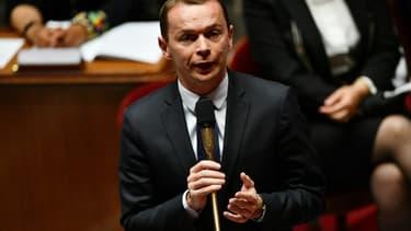 Le ministre de l'Action publique et des Comptes Olivier Dussopt lors des questions au gouvernement à l'Assemblée nationale, à Paris le 8 juillet 2020