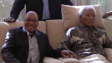 Les images de Jacob Zuma rendant visite à Nelson Mandela.