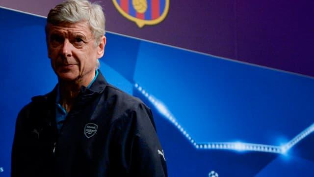 Arsène Wenger en conférence de presse à la veille du 8e finale retour de C1