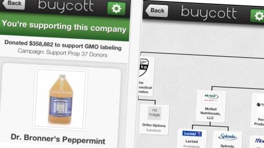 L'application Buycott dévoile toute l'histoire d'un produit, du PDG de la société au camion de livraison.