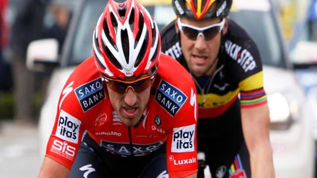 Fabian Cancellara a mené la fronde du peloton