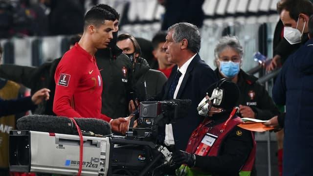 Cristiano Ronaldo et Fernando Santos