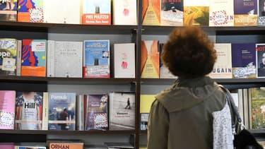Une librairie (illustration)