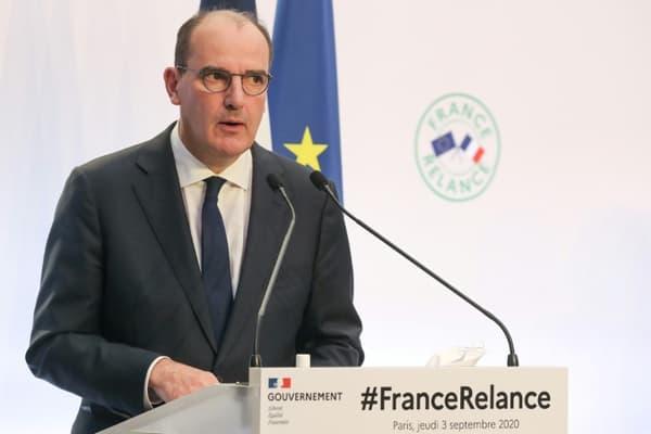 Le Premier ministre Jean Castex présente le plan de relance de l'économie, le 3 septembre 2020 à Paris