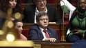 Jean-Luc Mélenchon, entouré de députés LFI à l'Assemblée nationale.