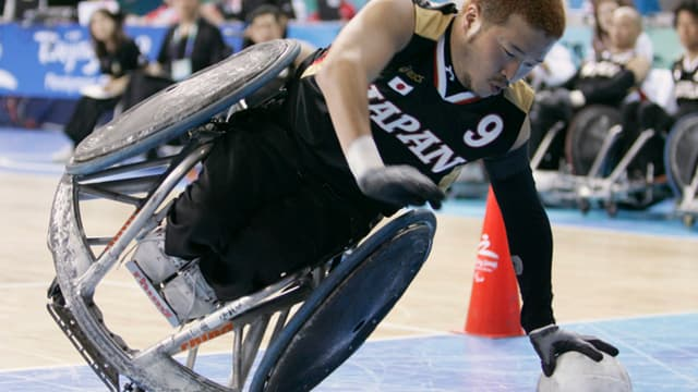 Le Japonais Manabu Tamura (rugby fauteuil)