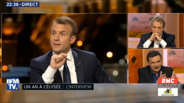 Emmanuel Macron sur BFMTV.