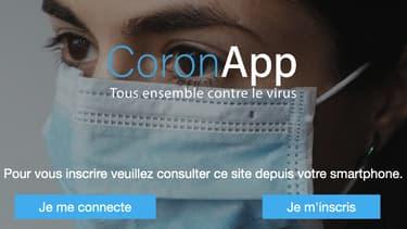 CoronApp, une application géolocalisée pour éviter le trajet de personnes contaminées.