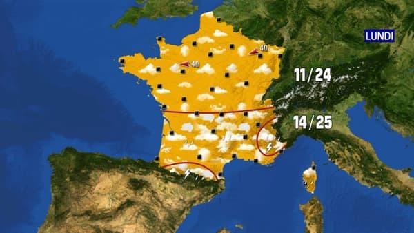 Les prévisions météorologiques pour le lundi 31 mai 2021.