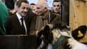 Nicolas Sarkozy a transformé son passage au Salon de l'Agriculture en étape électorale, multipliant les paroles d'apaisement à l'adresse des éleveurs confrontés à la flambée des prix des matières premières. A un an de la présidentielle, le chef de l'Etat