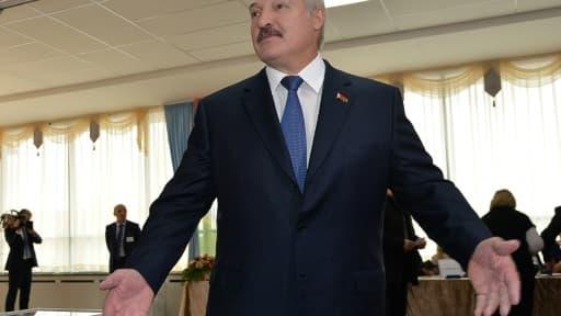 Le président sortant du Bélarus, Alexandre Loukachenko, le 11 octobre 2015 à Minsk