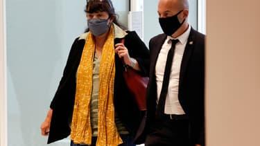 Marika Bret, DRH de Charlie Hebdo, au tribunal judiciaire de Paris, le 8 septembre 2020.