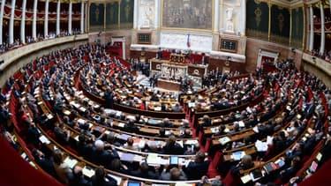 Les députés dans l'hémicycle, à l'Assemblée nationale. (Illustration)