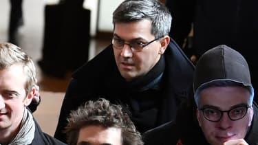 Julien Coupat lors du procès Tarnac, le 13 mars 2018 à Paris.
