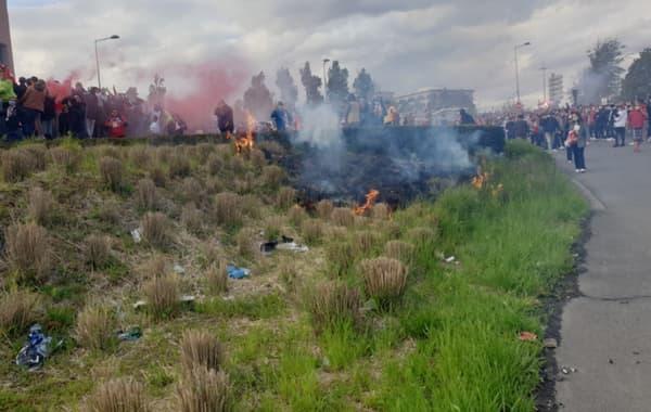 Il y a un petit départ de feu sur le trajet du bus lillois (16 mai 2021).