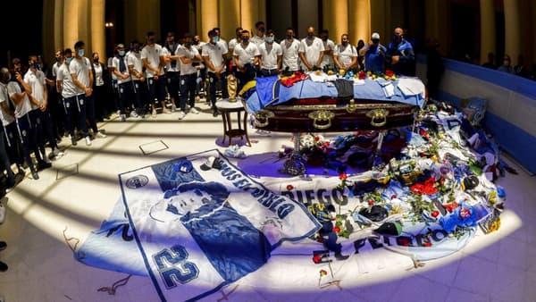 Le cercueil de Maradona lors de ses obsèques
