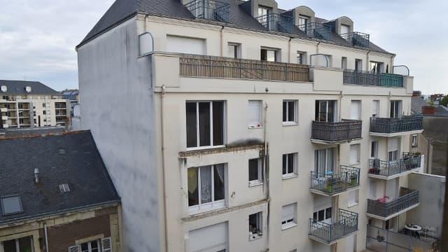 Un balcon de cet immeuble à Angers s'était effondré en 2016