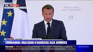 """Emmanuel Macron face aux Armées: """"Il nous faut rester vigilants mais la vie a repris son cours"""""""