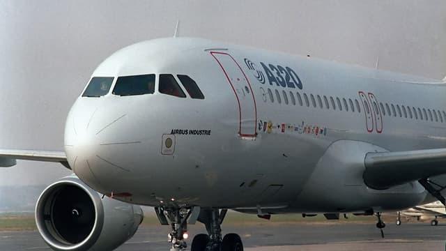 L'A320 lors de son vol d'inauguration le 22 février 1987.
