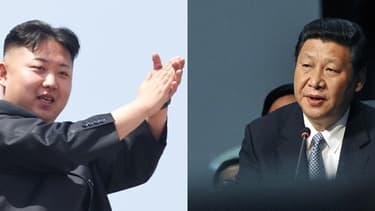 Kim Jong-un, dirigeant de la Corée du Nord, et son homologue chinois Xi Jinping