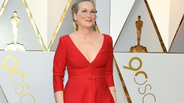 Meryl Streep à la cérémonie des Oscars le 4 mars 2018