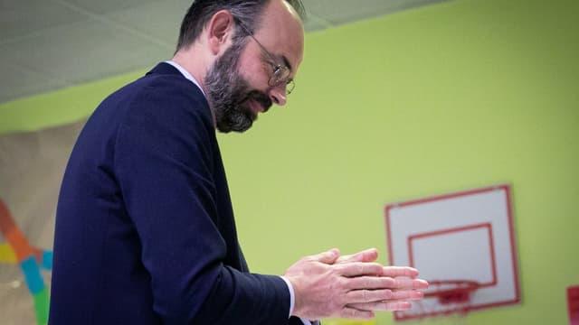 Le Premier ministre Édouard Philippe au Havre, le 15 mars 2020