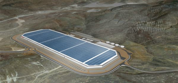 Le projet final de l'usine avec le toit recouvert de panneaux solaires.
