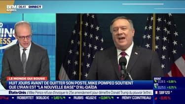 """Benaouda Abdeddaïm : Huit jours avant de quitter son poste, Mike Pompeo soutient que l'Iran est """"la nouvelle base"""" d'Al-Qaïda - 13/01"""