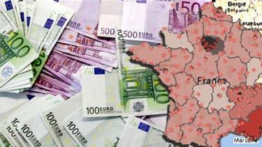 Les statistiques du ministère des Finances permettent de dresser une carte de France des contribuables fortunés.