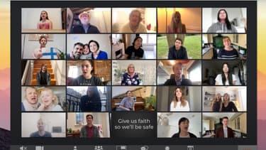 La vidéo participative d'Andrea Bocelli et Céline Dion