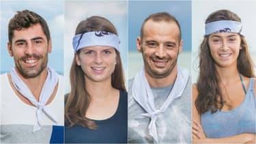 Les quatre finalistes de Koh-Lanta.