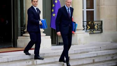 Gérad Darmanin et Bruno Le Maire, les deux locataires de Bercy.