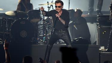 Johnny Hallyday sur scène en Belgique en mars 2016