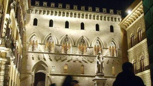 Le palais Monte dei Paschi, à Sienne.