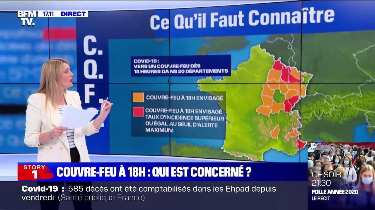 Couvre-feu dès 18h: quels sont les départements concernés