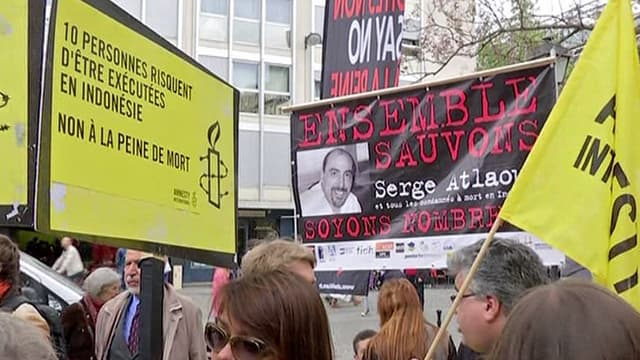 Une manifestation à Paris en soutien à Serge Atlaoui