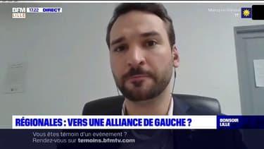 """Régionales 2021: Ugo Bernalicis, chef de file LFI, souhaite mettre en place """"un bouclier social"""" pour protéger les emplois dans les Hauts-de-France"""