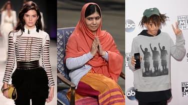 Kendall Jenner, Malala Yousafsai et Jaden Smith font partie des adolescents les plus influents de l'année 2015