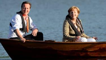 David Cameron et Angela Merkel à Harpsund en Suède.