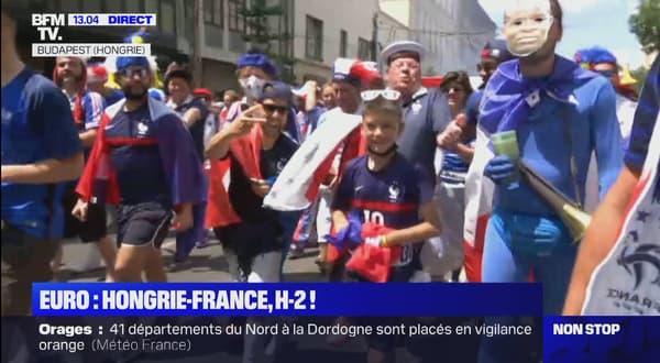 Les supporters français à Budapest