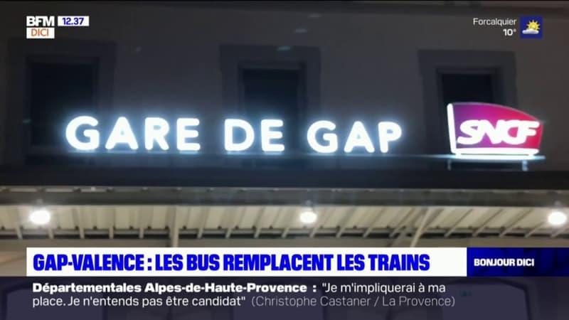 Gap-Valence: les bus remplacent les trains pendant les travaux