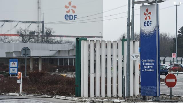 L'entrée de la centrale nucléaire de Fessenheim (Bas-Rhin).