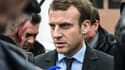 Emmanuel Macron à Noeux-les-Mines le 13 janvier 2017