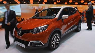 Le Renault Captur  est la quatrième voiture la plus vendue en 2015.