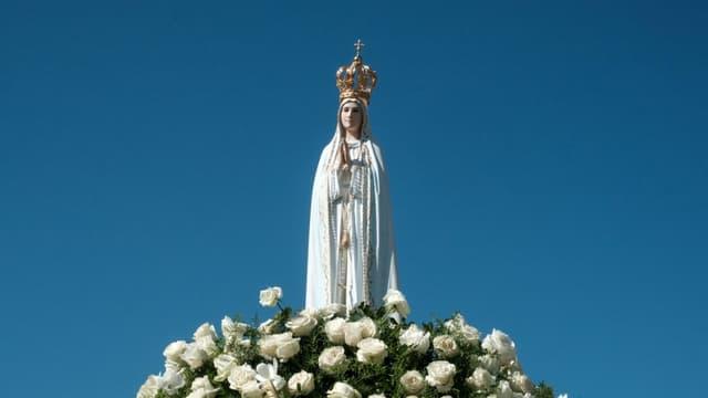 Statue de la Vierge Marie, le 13 mai 2017 à Rio de Janeiro au Brésil