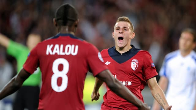 Salomon Kalou et Lucas Digne