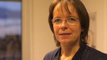 Florence Thune, directrice de Sidaction dans les locaux de l'association le 30 novembre 2017