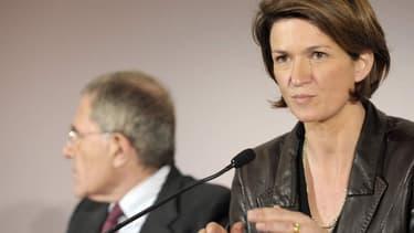 Isabellle Kocher désormais favorite pour succéder à Gérard Mestrallet (à gauche)