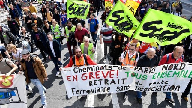 L'intersyndicale de la SNCF appelle les cheminots à une nouvelle journée d'actions le 3 mai. (image d'illustration)