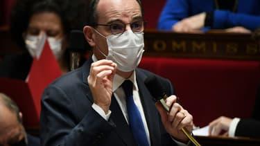 Jean Castex durant les questions au gouvernement à l'Assemblée nationale, le 16 mars 2021